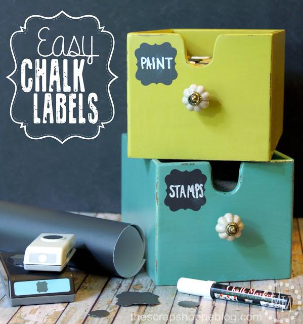 Easy Chalkboard Lables via The Scrap Shoppe