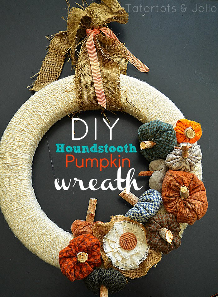 Houndstooth Pumpkin Wreath