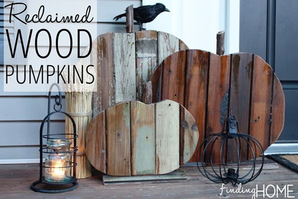 reclaimed wood pumpkins