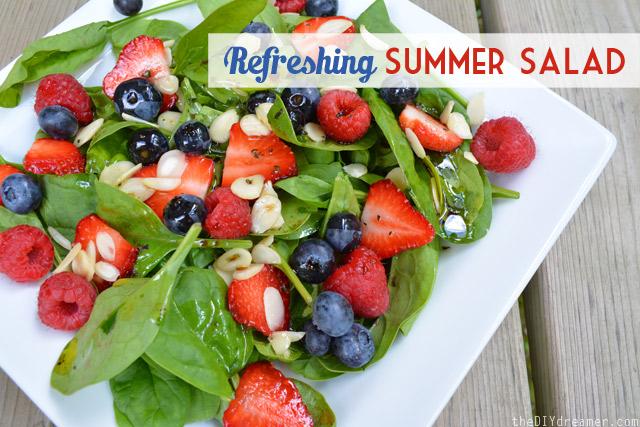 Refreshing-Summer-Salad via The DIY Dreamer