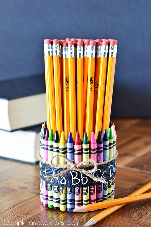 Crayon Pencil Vase via A Pumpkin and a Princess