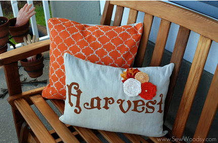 Tutorial  Double Sided Fall Halloween Painted Pillow Covers   Sew Woodsy