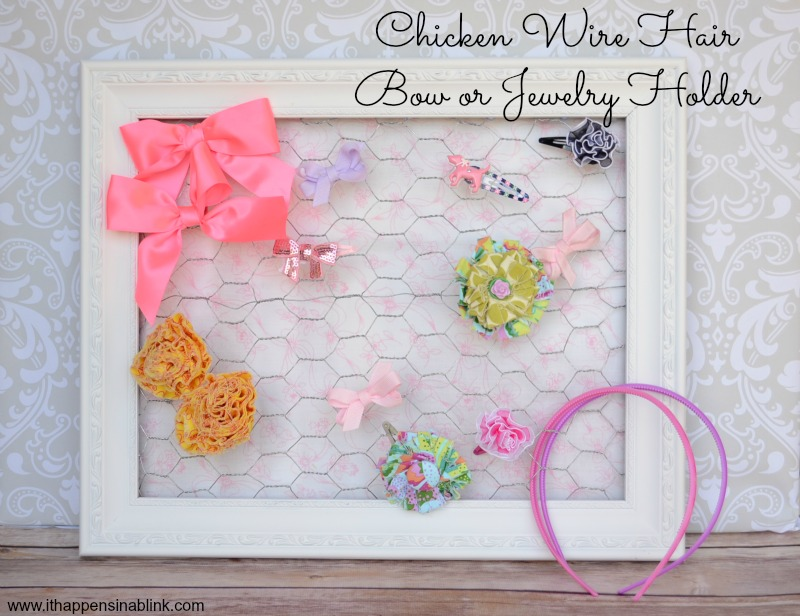 chicken wire hair bow holder