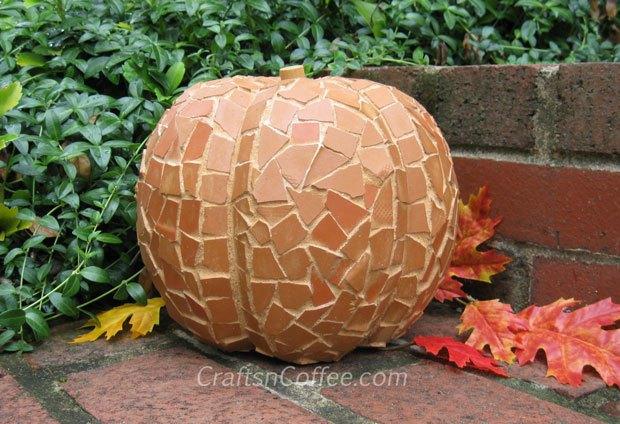 terracotta mosaic pumpkin