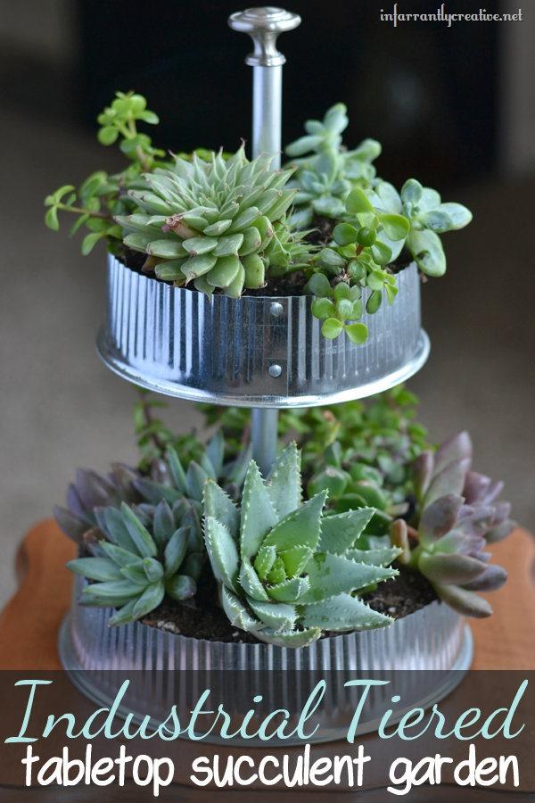 Table Top Succulent Planter via Infarrantly Creative