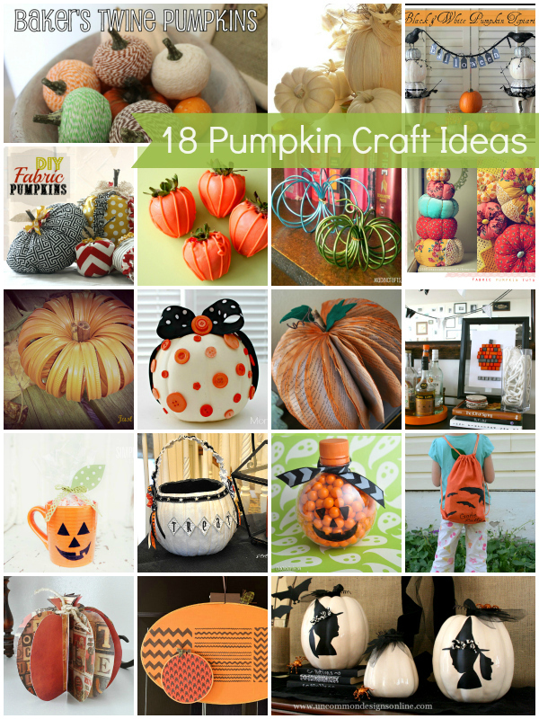 18 Pumpkin Crafts
