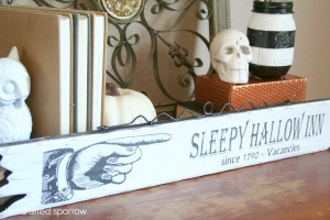 DIY Sleepy Hallow Halloween Sign 6