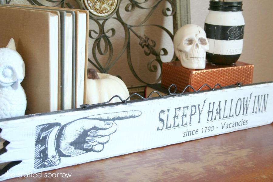 Diy sleepy hallow halloween sign 6