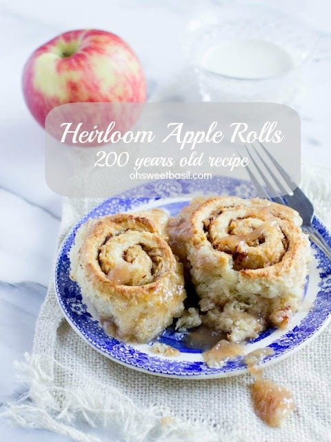 heirloom apple rolls