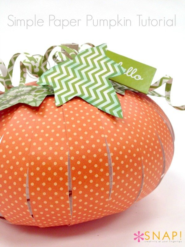 Simple Paper Chick Craft: Simple Paper Pumpkin Tutorial {Giveaway}