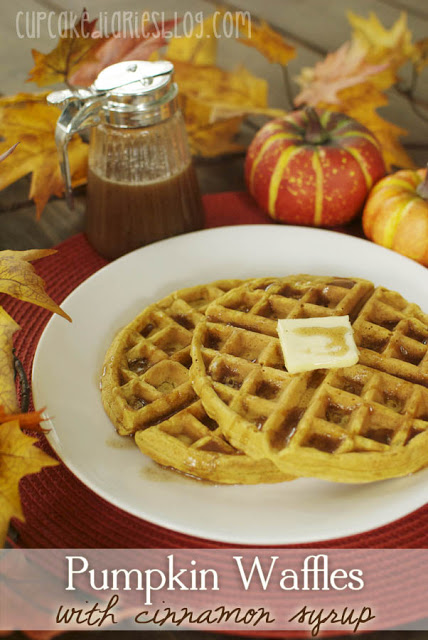 Pumpkin Waffles via Cupcake Diaries