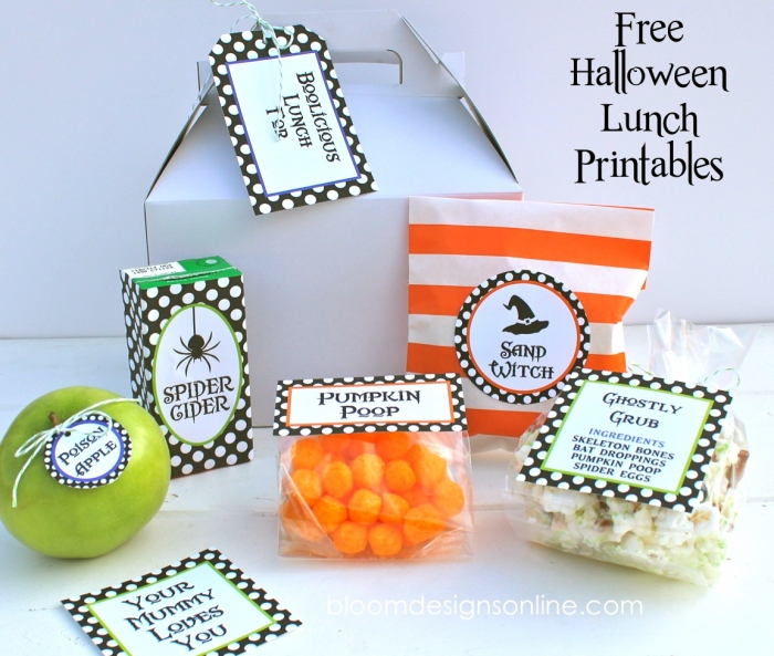 Halloween Lunch Printables