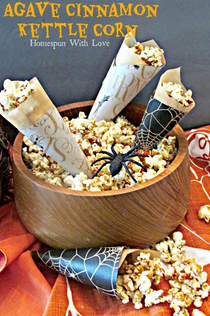 Agave Cinnamon Kettle Corn via Homespun With Love