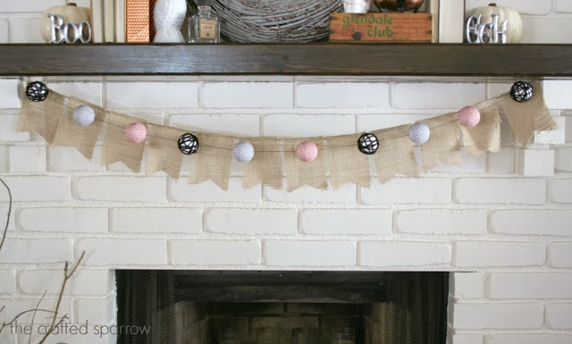 Halloween Bakers Twine Garland via The Crafted Sparrow
