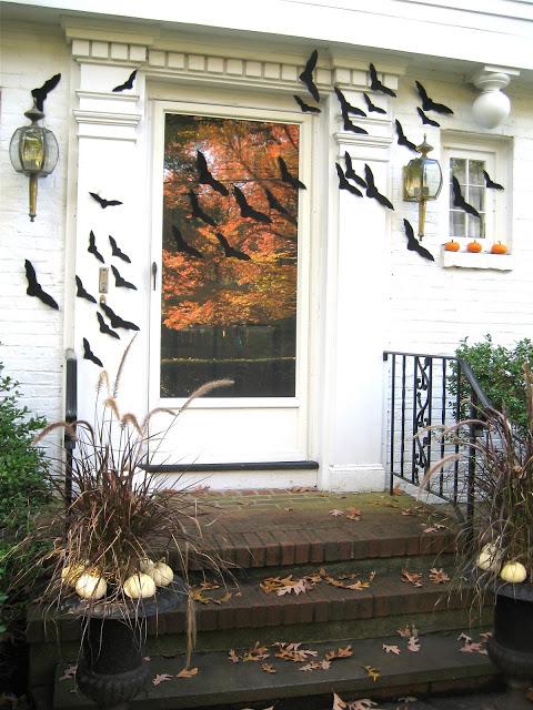 front porch bat decorations