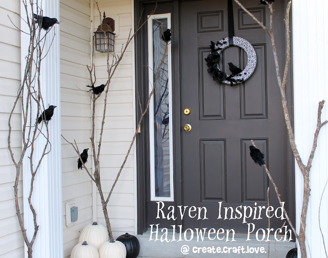 Raven inspired Halloween porch