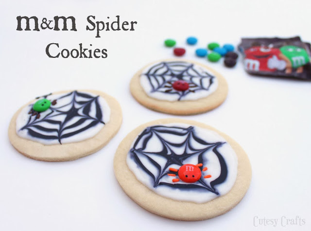 MM Spider Cookies