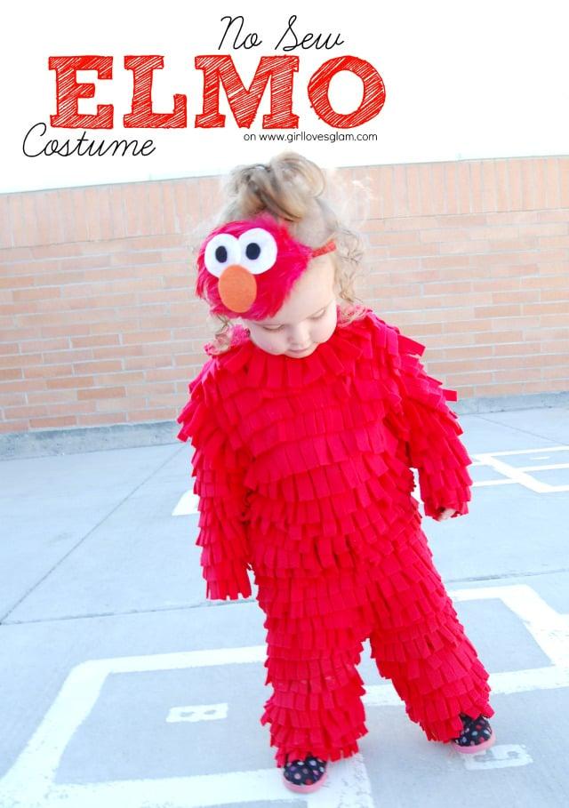 No Sew Elmo Costume via Girl Loves Glam