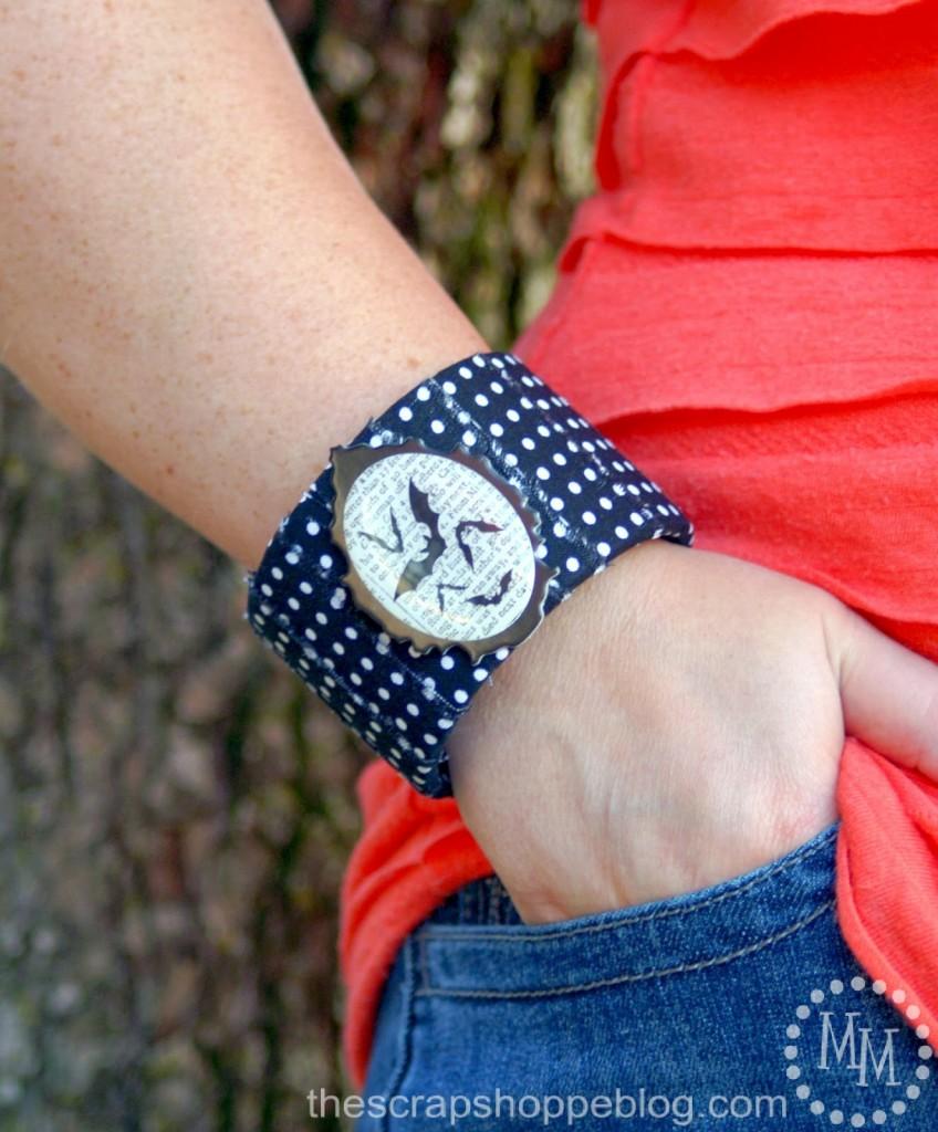 Halloween Bat Bracelet via The Scrap Shoppe
