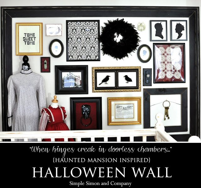 haunted mansion inspired halloween wall---disney-simple-simon-and-co
