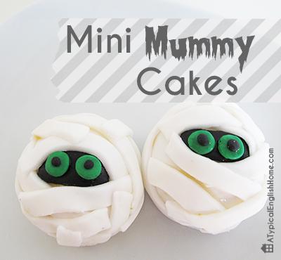 Mini Mummy Cakes via A Typical English Home