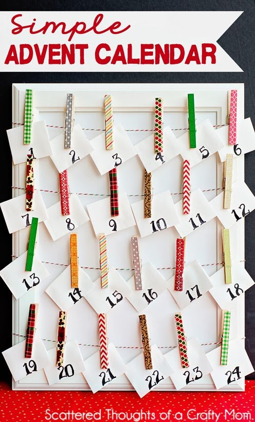 Washi Advent Calendar via Scattered Thoughts of a Crafty Mom