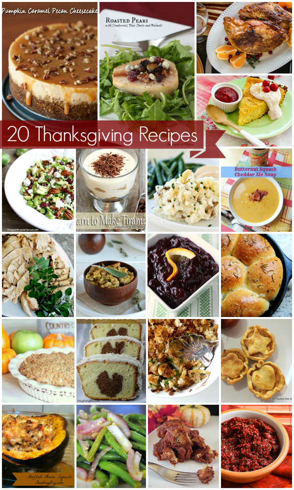 20 Tasty Thanksgiving Recipes