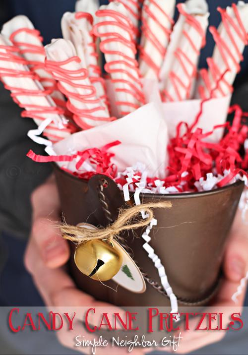 Candy Cane Pretzel Neighbor Gift