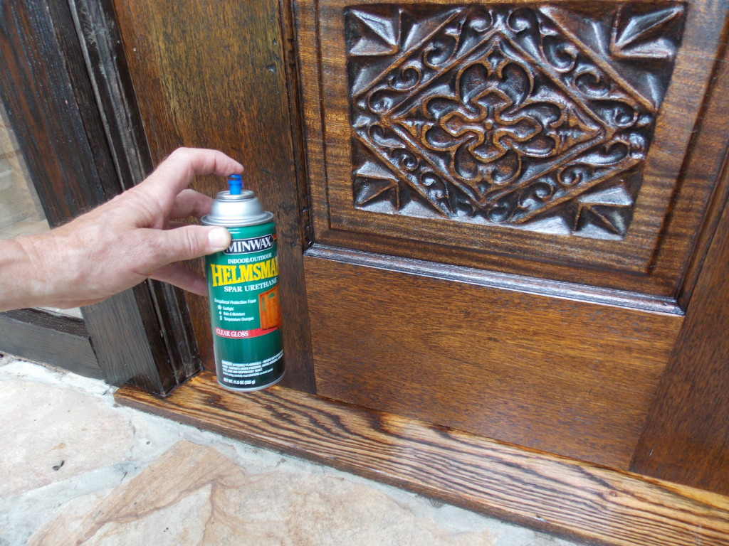 Refinishing an oak threshold