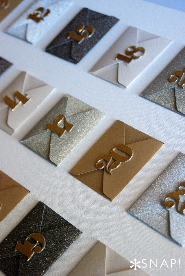 Envelope advent close up vertical