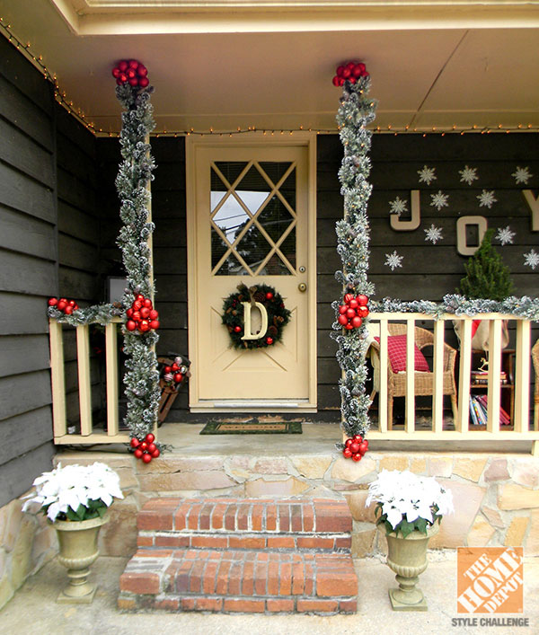 Porch Christmas Decorating Ideas holiday porch decorating ideas - tauni + co