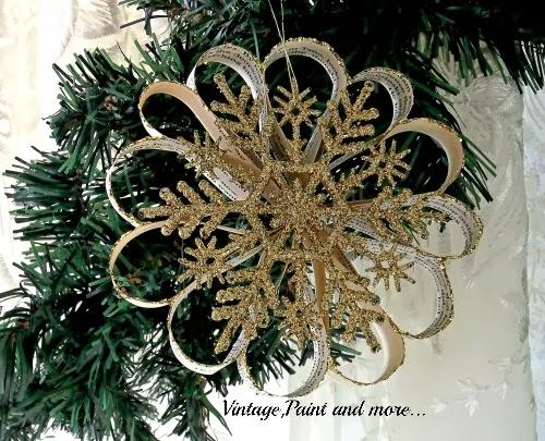 Book Paper Christmas Ornament
