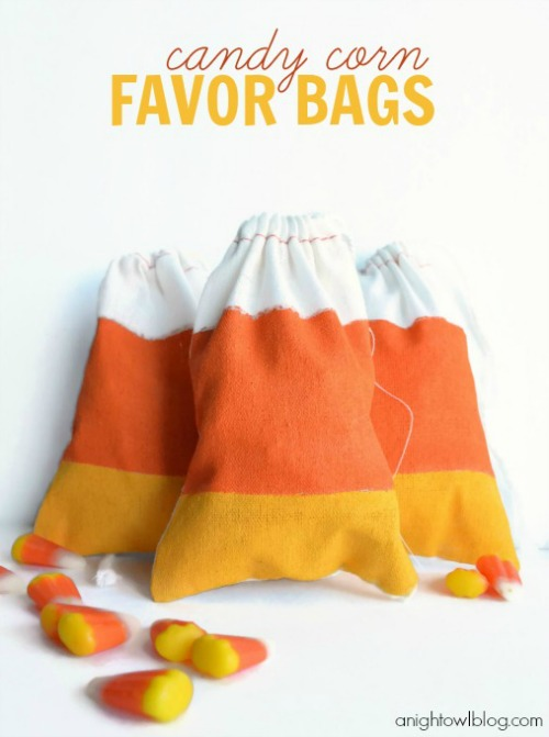 Candy Corn Favor Bags at A Night Owl