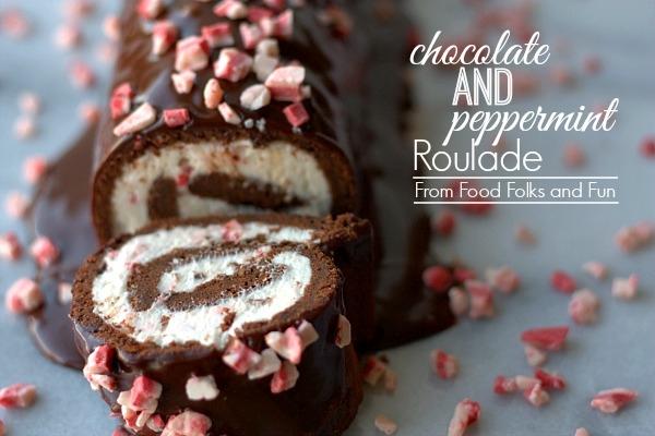 Chocolate Peppermint Roulade via Food Foilks and Fun