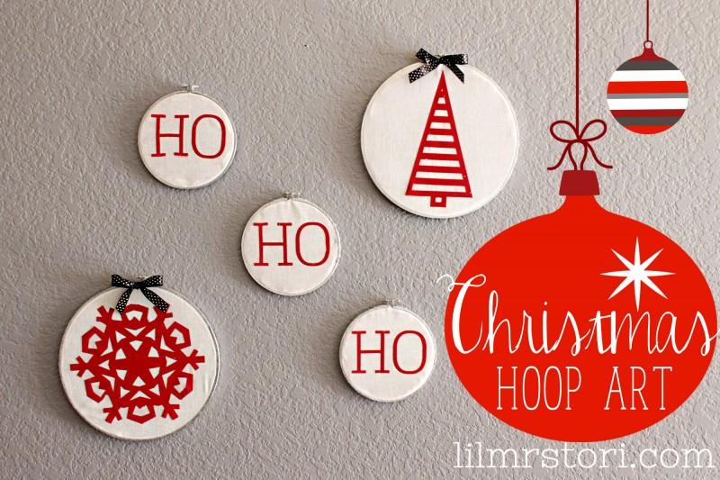 Christmas Embroidery Hoop Art via Lil Miss Tori