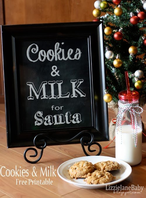 Cookies and Milk Printable via Lizzy Jane Baby