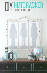 DIY Nutcracker Silhouette Wall Art
