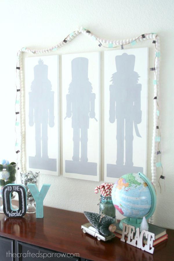 DIY Nutcracker Silhouette Wall Art 2