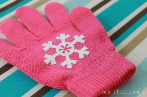 DIY Snowflake Texting Gloves