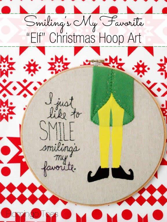 Elf Christmas Embroidery via Flamingo Toes