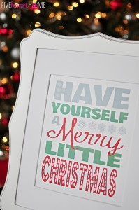 Merry Christmas Printable via Five Heart Home