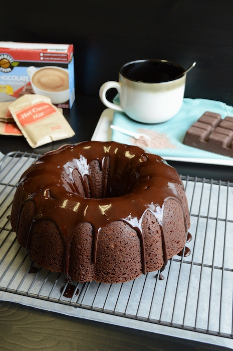 Hot Chocolate Bundt Cake via The First Year Blog