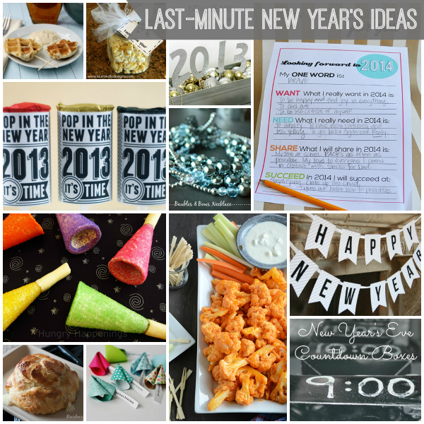 Last-Minute New Year's Eve Ideas