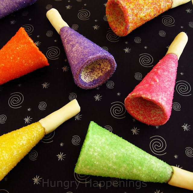 New Years Eve edible horns