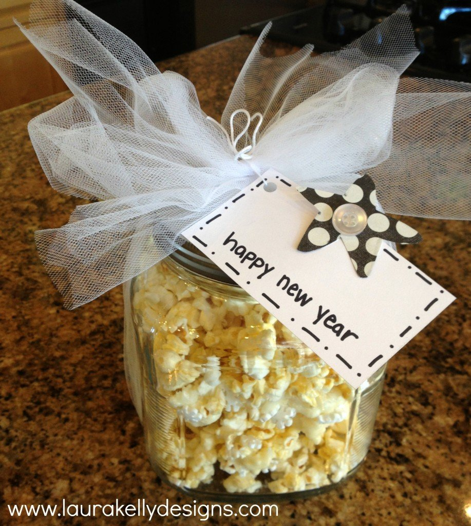 celebration sparkle popcorn treat