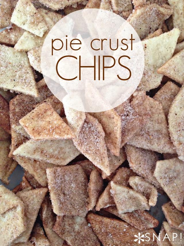 Pie Crust Chips via https://taunieverett.com #recipe #appetizer #piecrust #chips #dessert