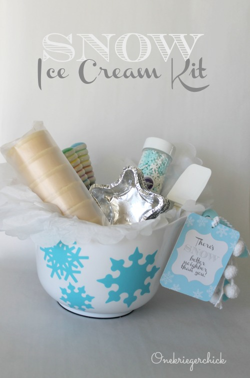 Snow Ice Cream Kit {neighbor gift}