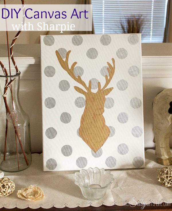 Reindeer Canvas via This Silly Girl's Life