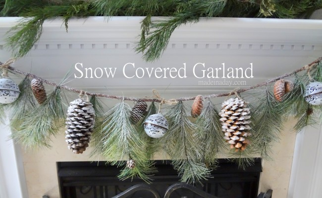 Flocked Garland via Made in a Day