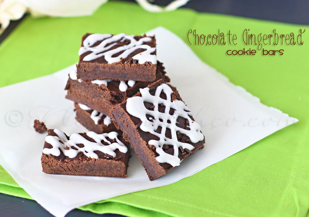 Chocolate Gingerbread Cookie Bars from Kleinworth & Co.